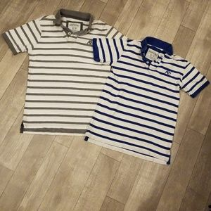 2PC YOUNG MENS AEROPOSTLE STRIPED POLO SHIRTS